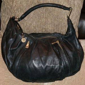 DKNY Black Soft Leather Hobo Bag